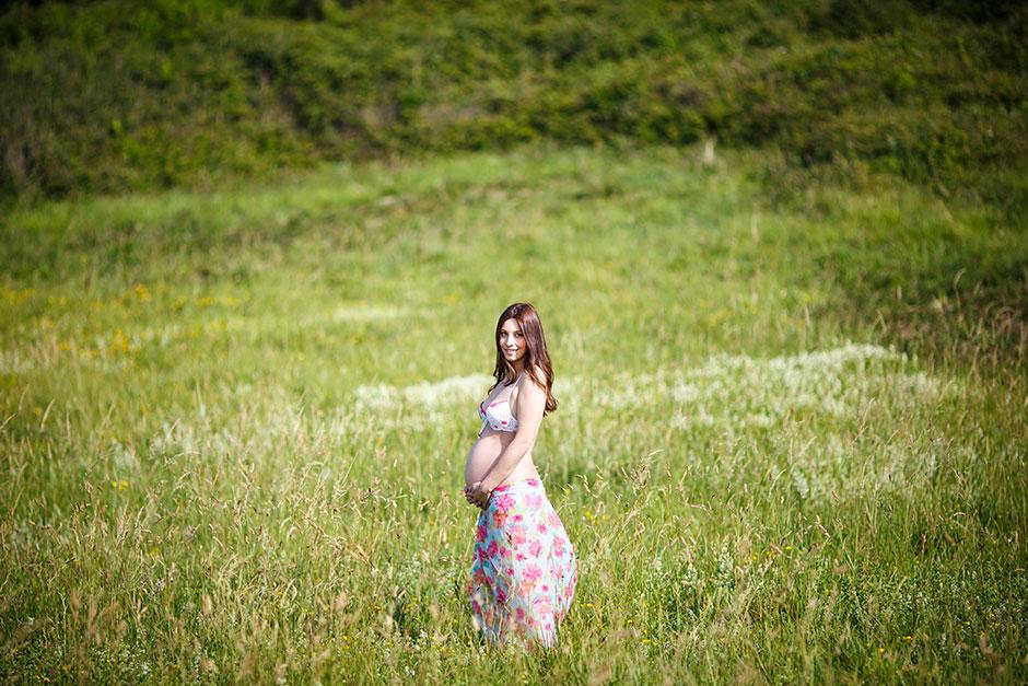 retrato embarazada en un reportaje de embarazo en irun