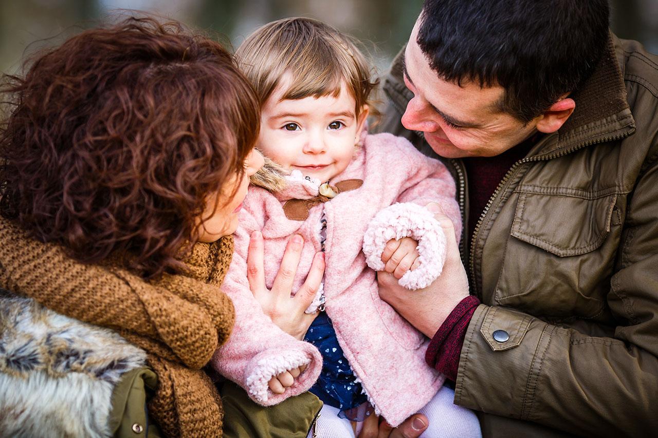 sesión de familia en peñas de aia infantil