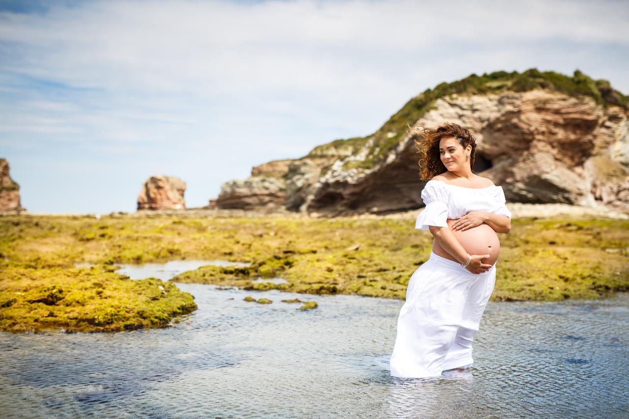 reportaje de embarazo en la playa de hendaya