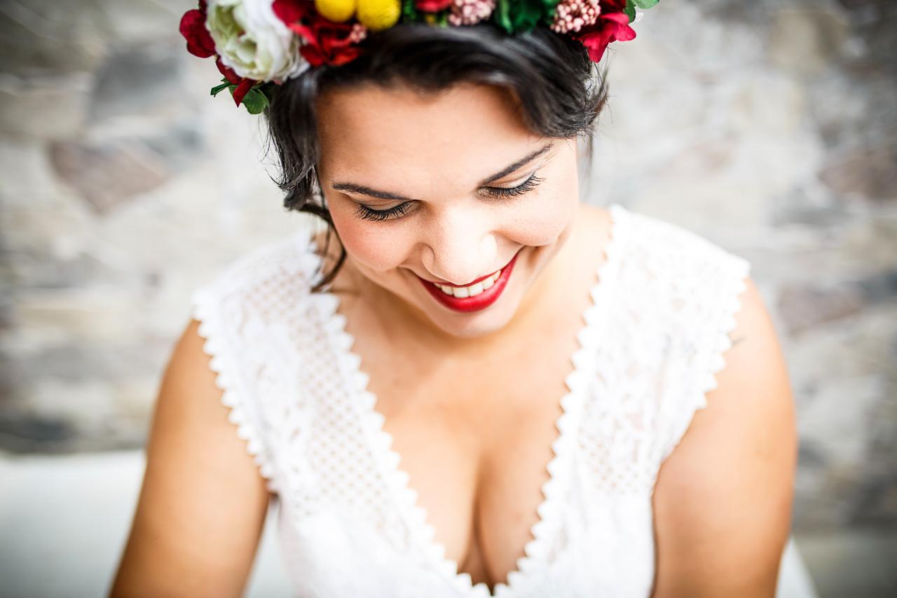 retrato de novia que se prepara en oiartzun fotografos en gipuzkoa