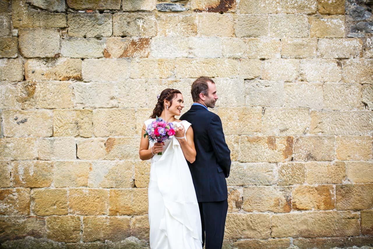 los novios se ven por primera vez en una boda en oiartzun