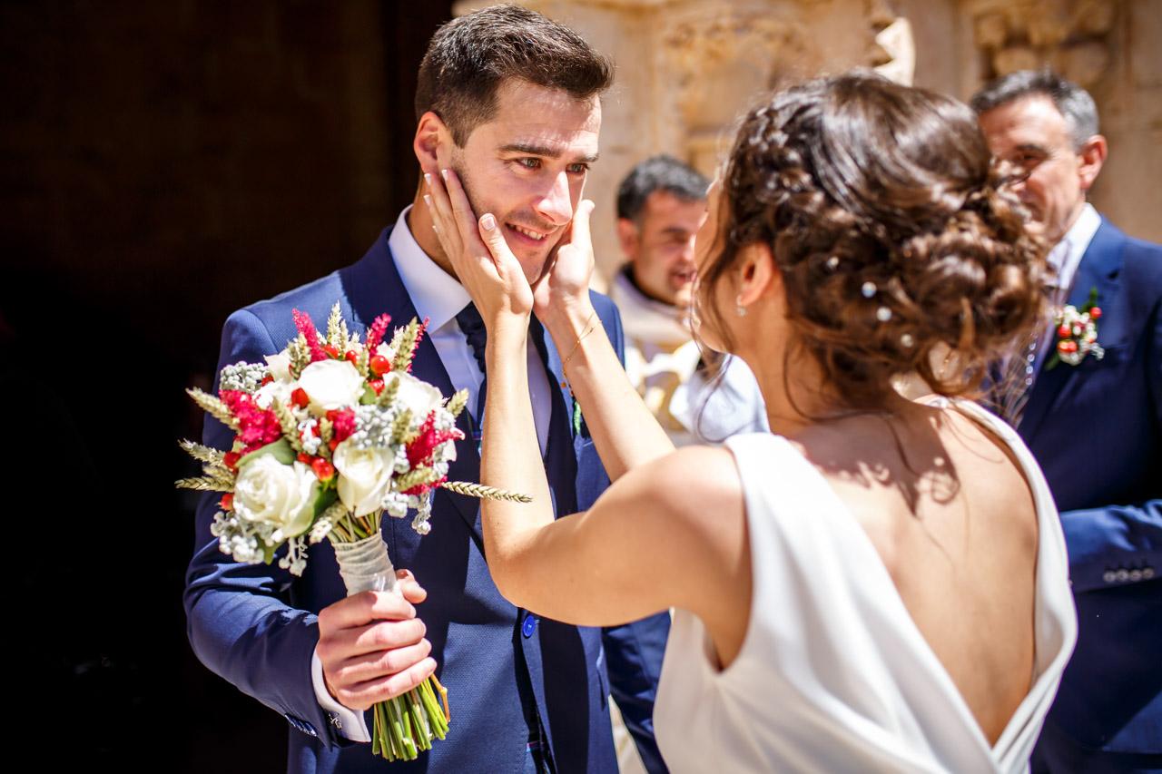 los novios se ven por primera vez en una boda en soria